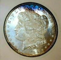 MORGAN SILVER DOLLAR 1879 S GEM BU RAINBOW PL MONSTER MS GLASSY WOW COIN