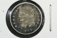 1835 SMALL DATE SMALL 5 CAPPED BUST HALF DIME, CHOICE FINE