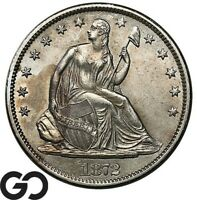 1872 S SEATED LIBERTY HALF DOLLAR CHOICE BU DETAILS TOUGH TH