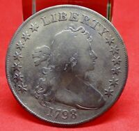 1798 DRAPED BUST DOLLAR - GREAT TYPE COIN