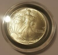 1986 AMERICAN SILVER EAGLE 1OZ COIN. FIRST YEAR