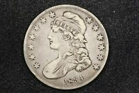 1834 CAPPED BUST HALF, SMALL DATE, SMALL LETTERS, O-114 R1,  FINE