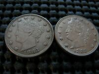 PAIR OF 1883 NC LIBERTY NICKELS