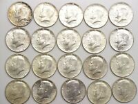 UNCIRCULATED ROLL OF 1964 P KENNEDY HALF DOLLARS 20 COINS $1