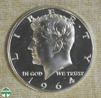 1964 KENNEDY HALF DOLLAR   ACCENTED HAIR   PROOF DETAILS