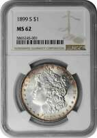 1899-S MORGAN SILVER DOLLAR MINT STATE 62 NGC