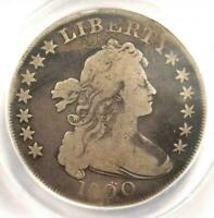 1800 DRAPED BUST DOLLAR B-14A, DOTTED DATE, ANACS VG-8 DET. SOME CORR, TOP OBV