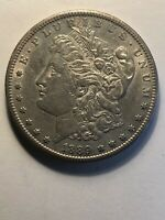1889S MORGAN SILVER DOLLAR AU