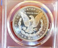 MORGAN SILVER DOLLAR 1897 S PCGS MINT STATE 63 GLASSY CAMEO LOOK PL REV WOW