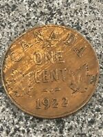 1922 CANADIAN SMALL CENT   A