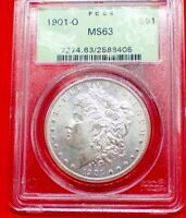 1901 O MRGAN DOLLAR, OGH HOLDER PCGS MINT STATE 63