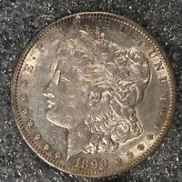 1890-S MORGAN SILVER DOLLAR - NEARLY UNCIRCULATED - HIGH QUALITY SCANS H578