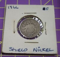 US 1866 SHIELD NICKEL WITH RAYS 5 CENT FIRST MINT YEAR MAYBE