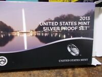 2013 US SILVER PROOF QUARTERS SET  7 SILVER / 7MISC