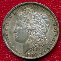 1900 MORGAN SILVER DOLLAR CHOICE ALMOST UNCIRCULATED SHIPS FREE