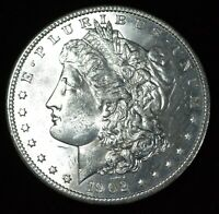 1902-O NEW ORLEANS MORGAN SILVER DOLLAR BU WITH A BIT OF TONING AND  LUSTER