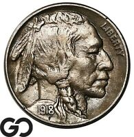 1918 S BUFFALO NICKEL SOUGHT AFTER CHOICE AU   BETTER DATE S