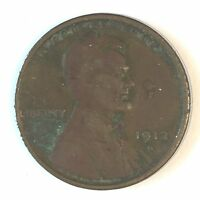 1912-S LINCOLN CENT - HIGH QUALITY SCANS D225