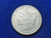 1904-S MORGAN SILVER DOLLAR $1 CHOICE EXTRA FINE  / AU DETAILS CLEANED  DATE SHARP