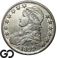 1828 CAPPED BUST HALF DOLLAR NICE EARLY SILVER 50C