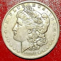 1891-O MORGAN DOLLAR HOT 50 VAM-3A2 LATE STAGE DIE CRACKS OBVERSE AND REVERSE