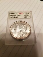 1889-O MORGAN SILVER DOLLAR DOUBLE DATE VAM6 ACG