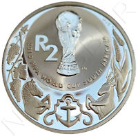 SUDAFRICA 2 RAND PLATA 2010 FIFA WORLD CUP SOCCER  | SILVER .925  SOUTH AFRICA