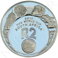 SUDAFRICA 2 RAND PLATA 2007 FIFA WORLD CUP SOCCER SILVER .925  SOUTH AFRICA 2010