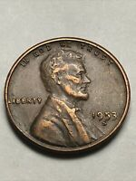 1953 S DIE CHIP AT DATE & WHEAT EARS LINCOLN WHEAT CENT ERROR COIN LOT U307