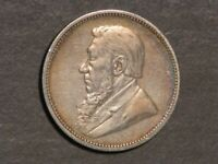 SOUTH AFRICA 1892 2 SHILLING SILVER VF XF