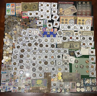 HUGE LOT 500  COIN/STAMP SILVER NOTE/MERCURY/IKE/BUFFALO/IND