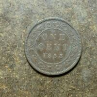 1858 CANADA LARGE CENT COIN   KEY DATE   FIRST YEAR ISSUE