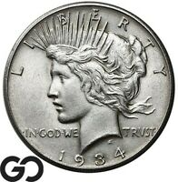 1934 S PEACE DOLLAR TOUGH THIS NICE STRONG STRIKE KEY DATE S