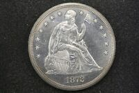 1872 PROOF LIBERTY SEATED DOLLAR, NEAR CH. PROOF WITH LIGHT CAMEO