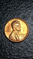 1957-D 1C RD LINCOLN CENT WHEAT CENT UNCIRCULATED