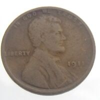 1911D UNITED STATES AMERICA LINCOLN CENT 1 ONE COPPER PENNY CIRCULATED COIN T555