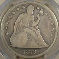 1872 LIBERTY SEATED DOLLAR PCGS G4  COIN