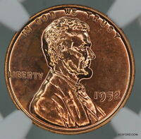 NGC PF65 RD 1952 LINCOLN WHEAT CENT PROOF RED 1C     BC14