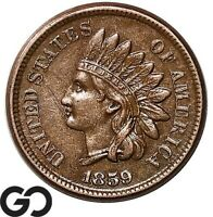1859 INDIAN HEAD CENT PENNY CHOICE XF   BETTER DATE
