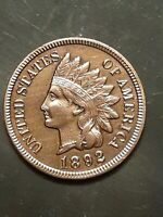 1892 INDIAN HEAD PENNY CENT   CHOICE AU UNCIRCULATED   RED