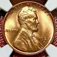 1937-S LINCOLN WHEAT CENT NGC MINT STATE 67 RD