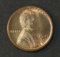 1947-D LINCOLN PENNY CENT BU RED