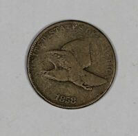 1858 1C U.S. FLYING EAGLE CENT GREAT FOR TYPE SET