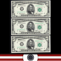 CONSECUTIVE 1950-E $5 NEW YORK FRN FEDERAL RESERVE NOTE  FR 1966-B 84204-P