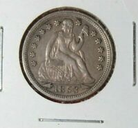 AVAILABLE IS AN 1853 SILVER SEATED LADY LIBERTY WITH ARROWS