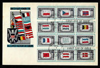 909   920 5C STAMP SET  1943  OVERRUN NATIONS  WWII  L. W. STAEHLE  LARGE  FDC