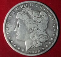 AVAILABLE IS AN 1895 S MORGAN SILVER DOLLAR MINTED FROM 1878-1921.