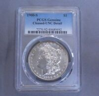 1900 S $1 MORGAN SILVER DOLLAR PCGS UNCIRC DETAILS | CLEANED