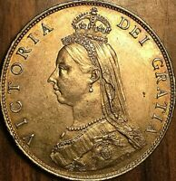 1887 GREAT BRITAIN VICTORIA SILVER FLORIN COIN   FANTASTIC LUSTROUS EXAMPLE