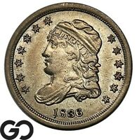 1836 CAPPED BUST HALF DIME NICE CHOICE AU EARLY TYPE COIN